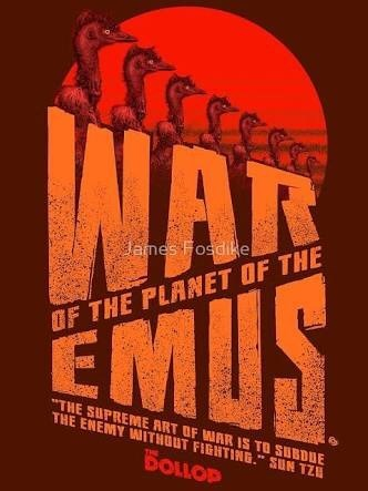 War of the Planet of the Emus movie parody