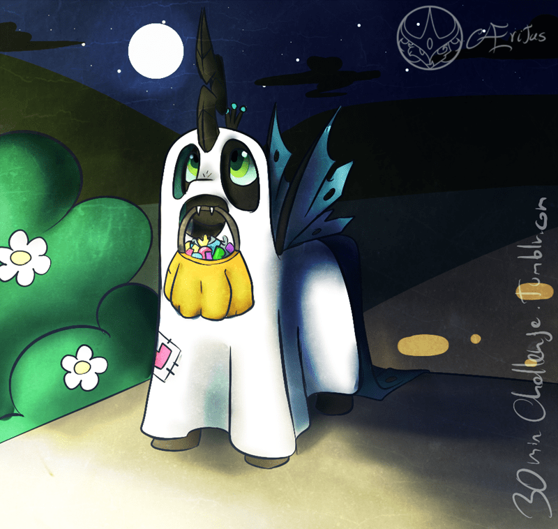 halloween nightmare night aeritus chrysalis changelings - 9231680256