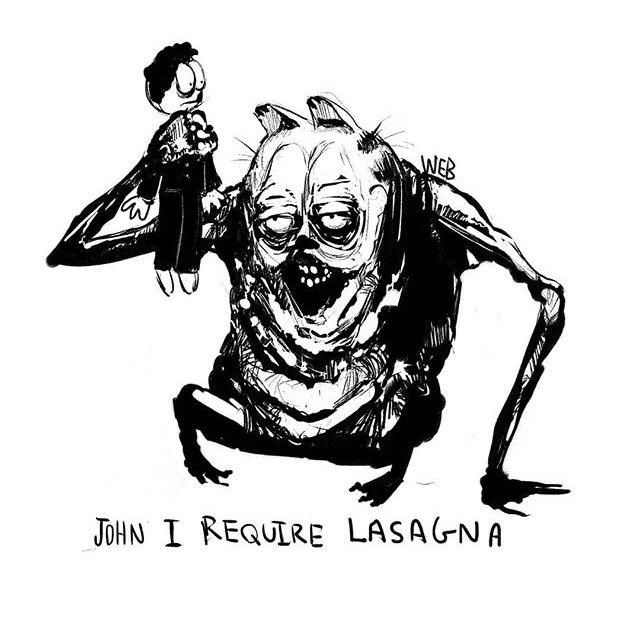 creepy garfield - Cartoon - WEB W JOHN I REQUIRE LASA(NA