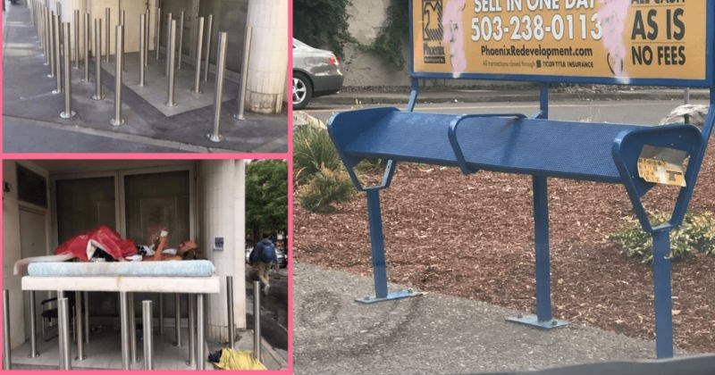 Pieces of hostile architecture that are bringing high levels of discomfort into the world.