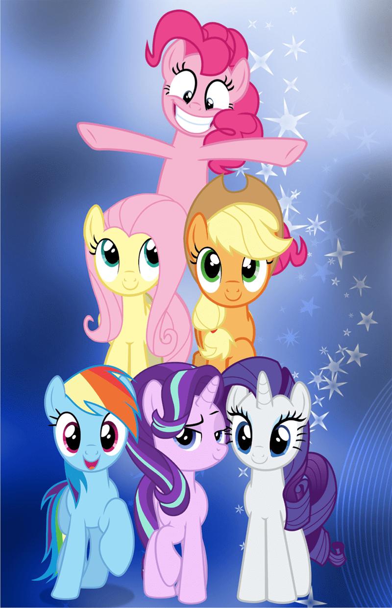 applejack starlight glimmer pinkie pie rarity best pony fluttershy rainbow dash - 9232544768