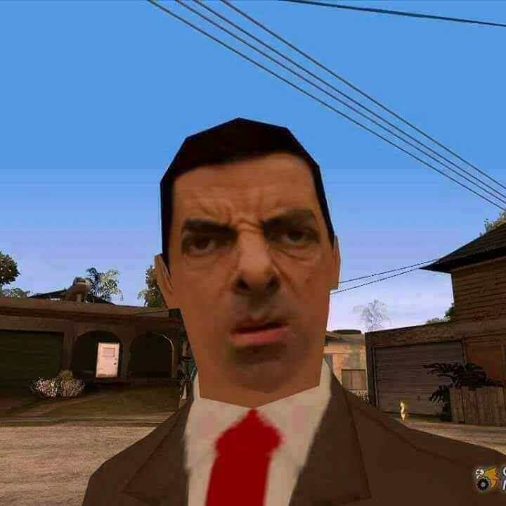 picture of Mister Bean as character in GTA San Andreas