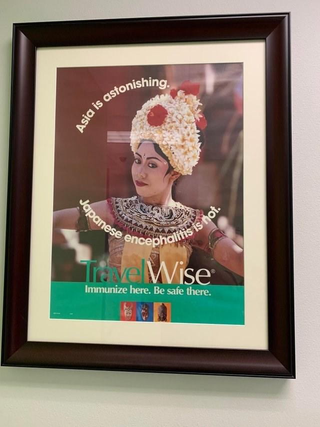 Poster - Asia is astonishing. Japanese encepholitisis not. velWise Immunize here. Be safe there.