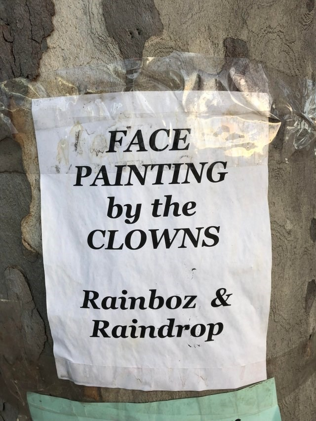Font - FACE PAINTING by the CLOWNS Rainboz & Raindrop
