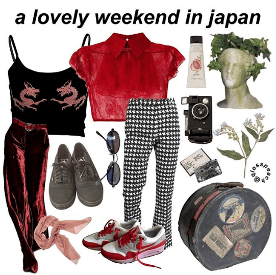 """lovely weekend in Japan"" starter pack"