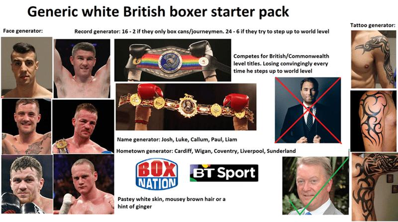 """""""Generic white British boxer"""" starter pack"""
