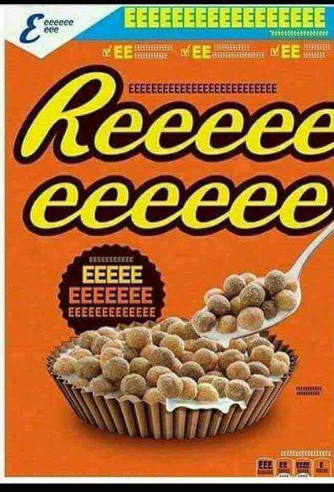 reeeeeeee meme of reese's peanut butter