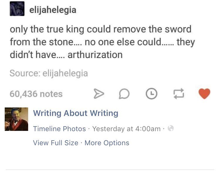 pun about king arthur removing the excalibur sword from the stone