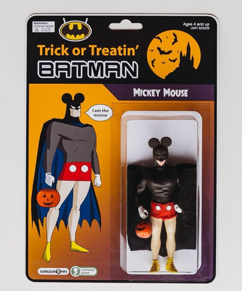 Batman - WARNING: Ages 4 and up UNIT 825209 choking hazard De ot he em Trick or Treatin' BATMAN MICKEY MOUSE I am the mouse obvious plant BARORARAFOTS