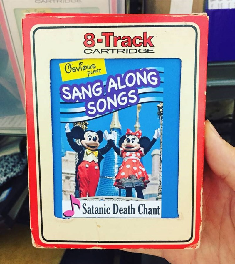 Fictional character - CART 8-Track CARTRIDGE Oevious PLANT SANG ALONG SONGS Satanic Death Chant