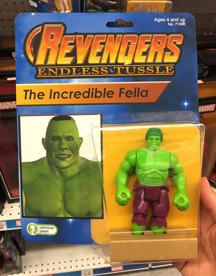 Toy - Ages 4 and up No. 71960 CREVENDERS ENDLESSTUSSLE The Incredible Fella MARVE ARVEL obvious plant MARVEL