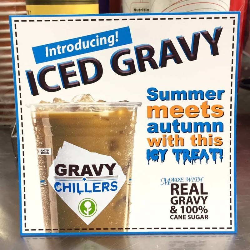 Drink - Nutritio Introducing! ICED GRAVY Summer meets autumn with this extra thick GRAVY CHILLERS MADE WITH REAL GRAVY & 100% CANE SUGAR