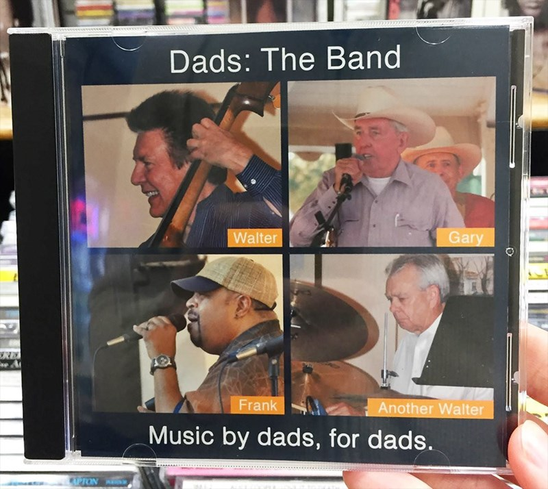 Photo caption - Dads: The Band Walter Gary RE Frank Another Walter Music by dads, for dads.