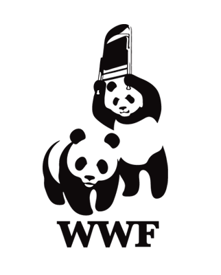pun about WWF being an animal organization and a wrestling promotion