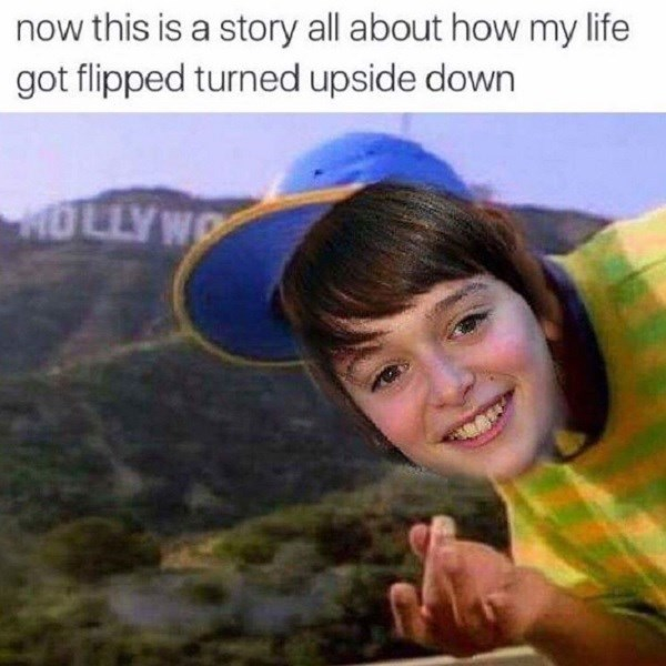 Fresh Prince of Bel Air meme with face of Noah Schnapp