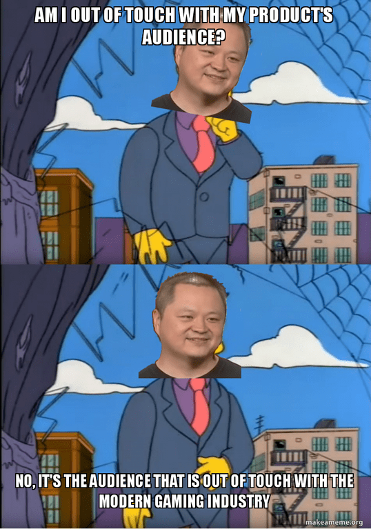 Simpsons meme with Mayor West about Blizzard being out of touch with Diablo audience