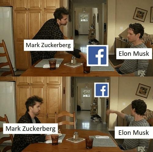 meme about elon musk versus mark zuckerberg