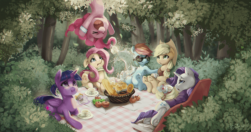 meruprince applejack twilight sparkle pinkie pie rarity fluttershy rainbow dash - 9234311936