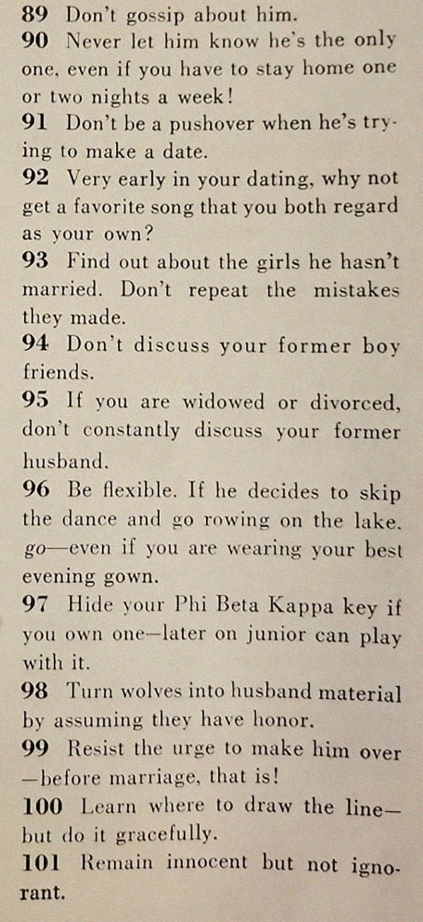 text on how to land a potential husband