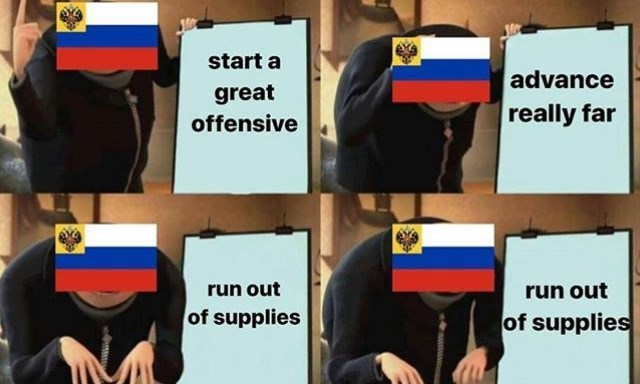 Gru's plan meme about country starting a war but running out of supplies
