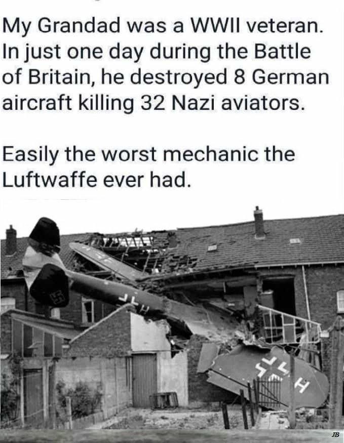joke about grandad being WWII veteran from the German side