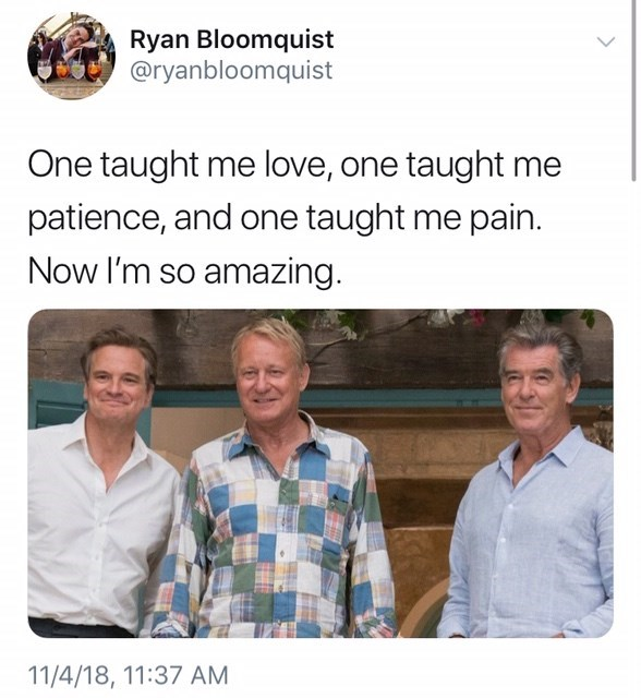 thank you, next meme about Sophie's fathers from Mama Mia by: @ryanbloomquist