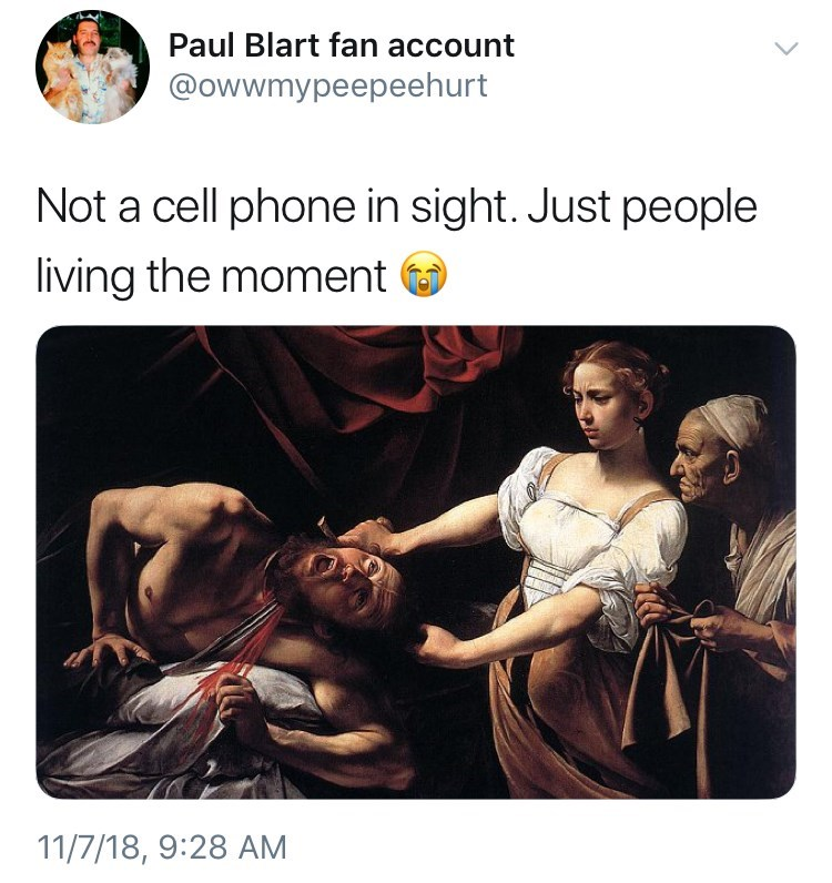 not a cell phone in sight meme about the middle ages and a woman murdering a man by: @owwmypeepeehurt