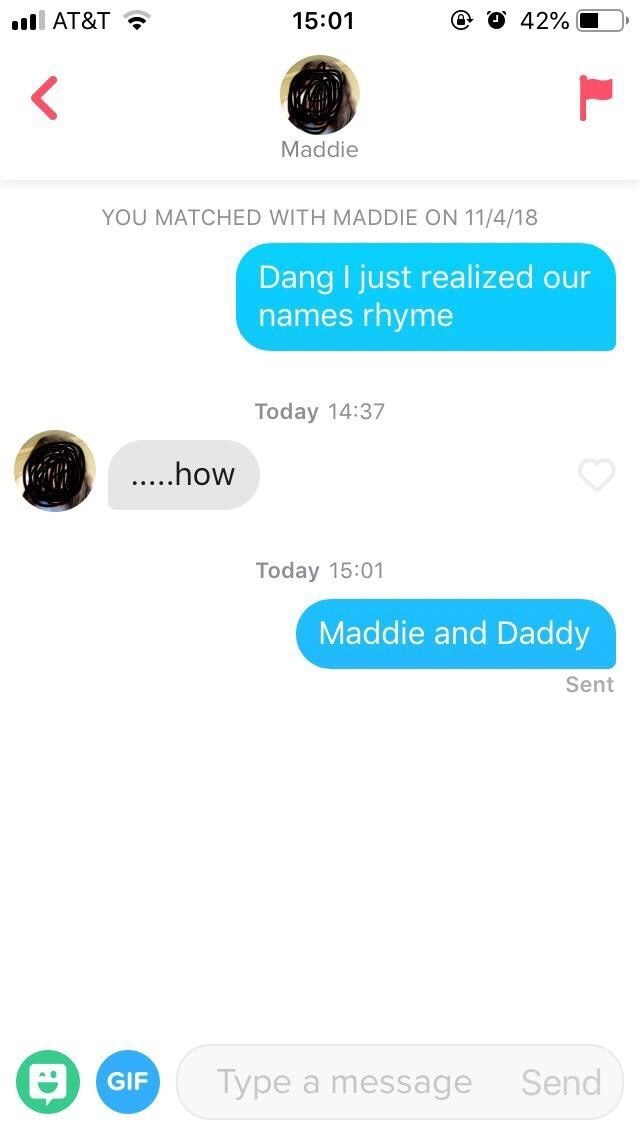 Smooth pickup line by guy calling himself daddy