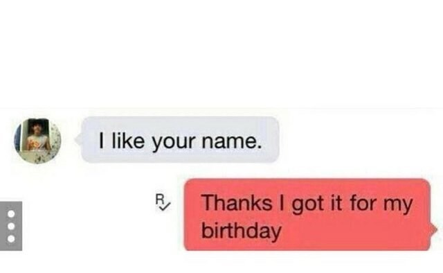 Text - like your name. Thanks I got it for my birthday