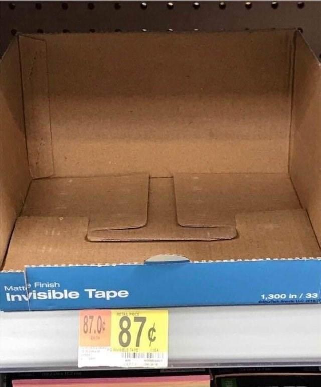 Box - Matte Finish Invisible Tape 1,300 in /33 oNTch 14C amas 80.49 87¢ RETA C