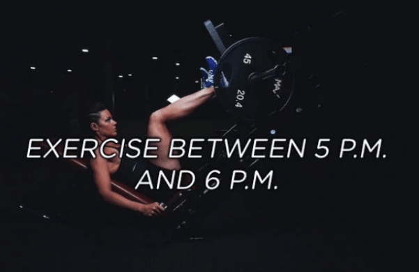 Performance - EXERCISE BETWEEN 5 P.M. AND 6 P.M. MA 45 20.4