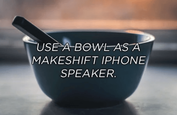 Product - USE A BOWL AS A MAKESHIFT IPHONE SPEAKER