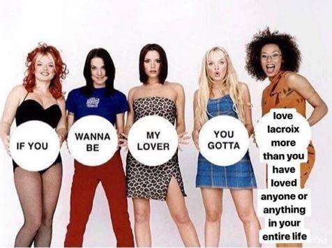 meme about millennials love la croix