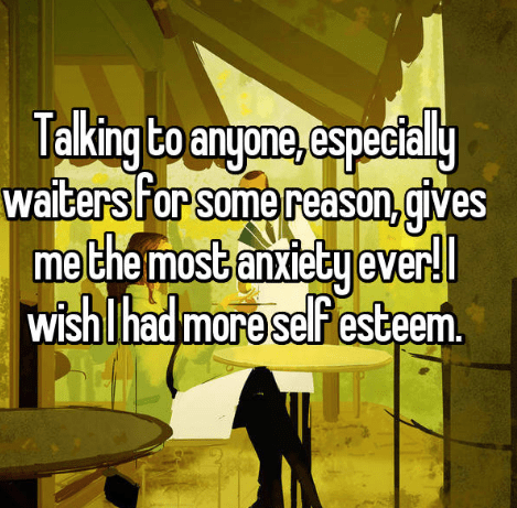 confession post about getting anxiety from talking to people