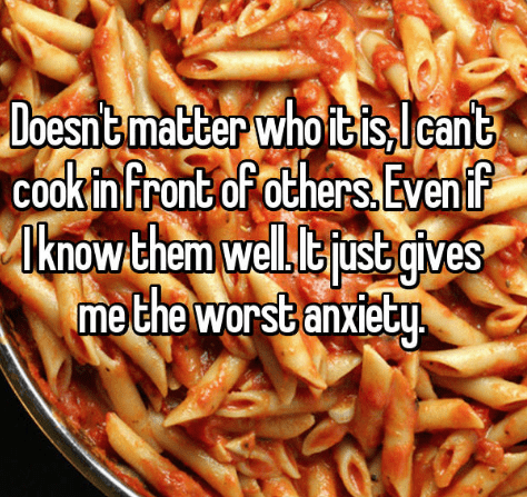 confession post about not being to cook for others