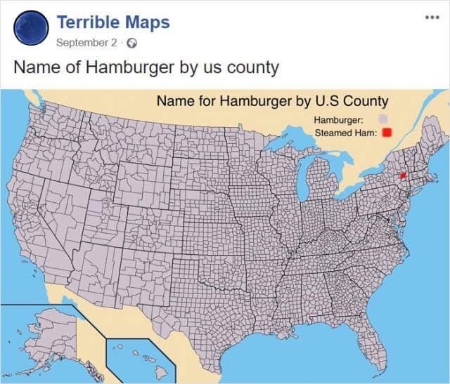 meme image of hamburger name within the USA