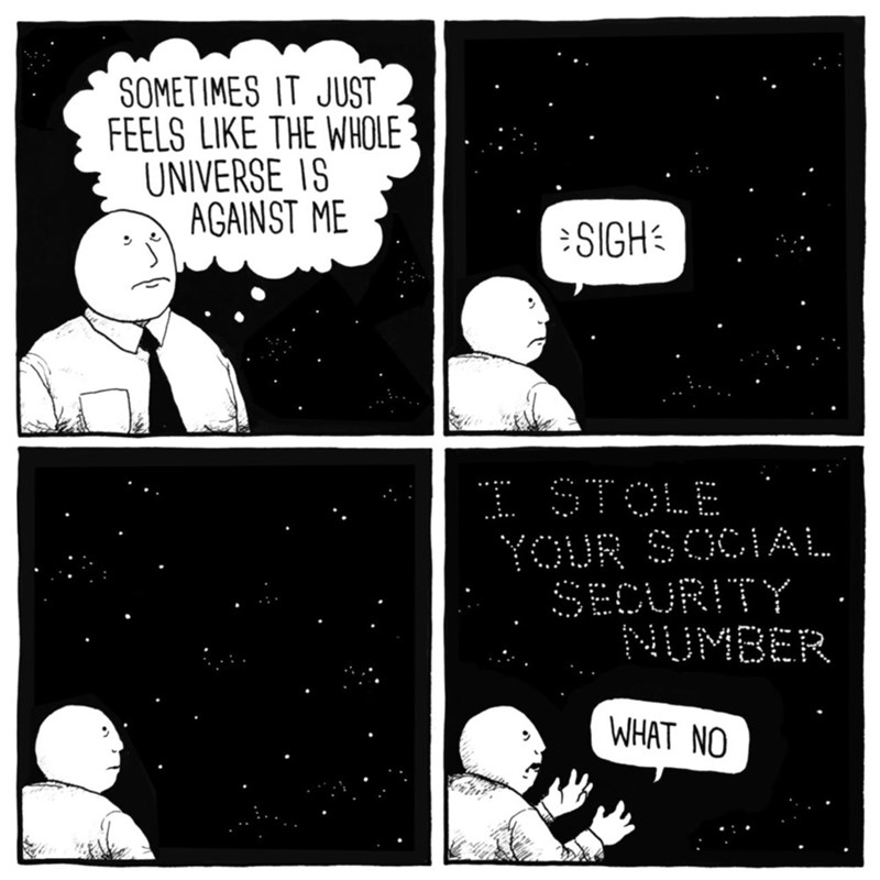 comic about the universe stealing your social security