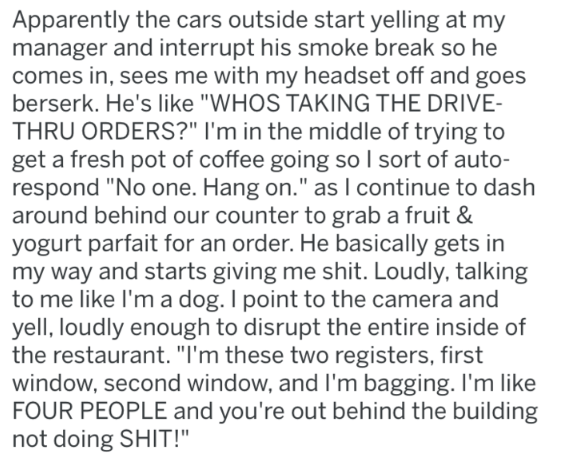 reddit rant at a McDonald's part 3