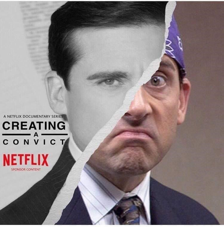 """creating a murderer"" parody about Michael Scott from The Office"