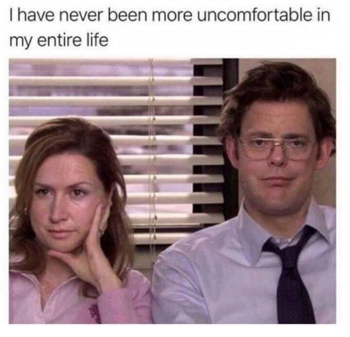 pic of Jim and Pam with their faces replaced with Dwight and Angela's