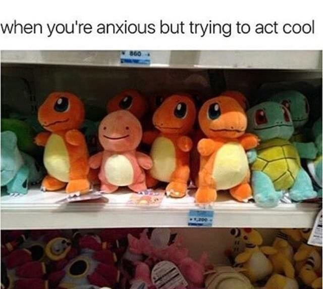 Stuffed toy - when you're anxious but trying to act cool 860