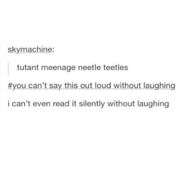 tumblr post of the misspelling of teenage mutant ninja turtles