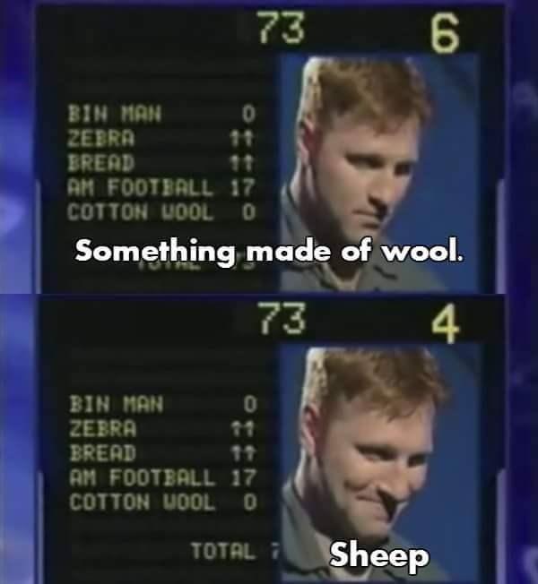 Sheep as something made of wool