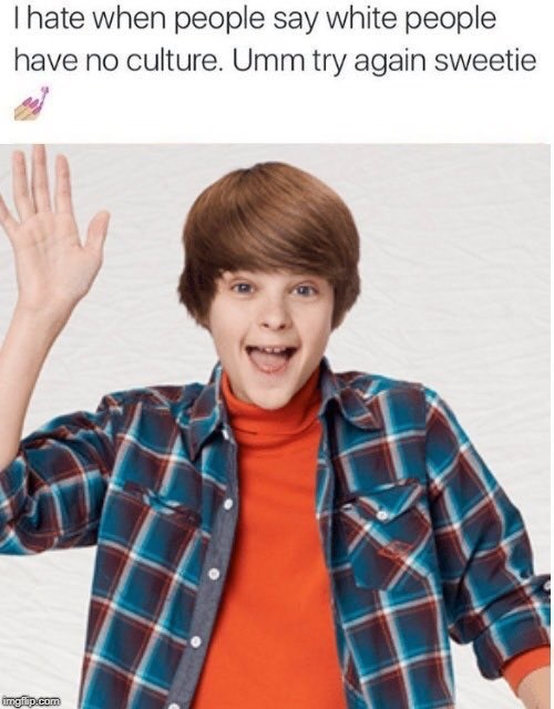 picture of Farkle Minkus from Girl Meets World as an example of white culture