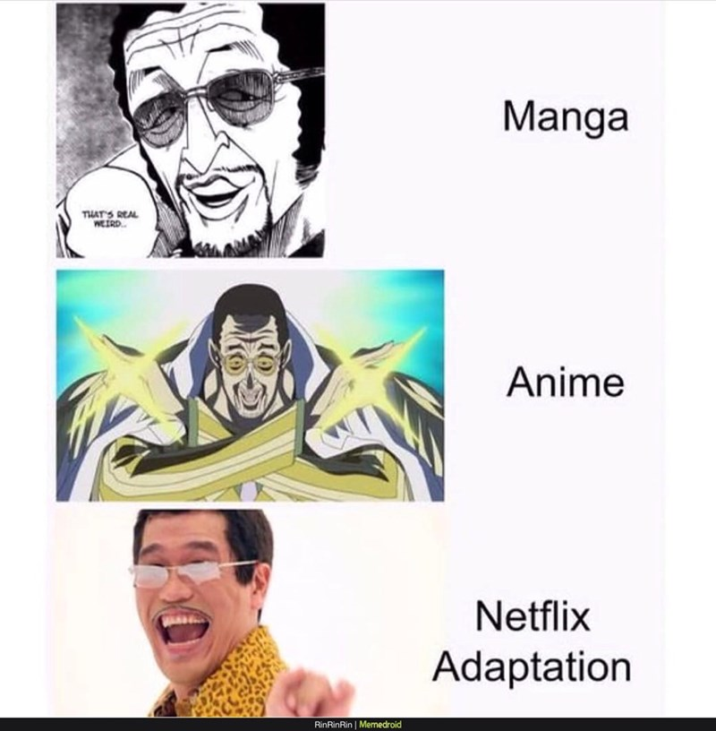 "Netflix adaptation meme about the ""pen pineapple apple"" guy"