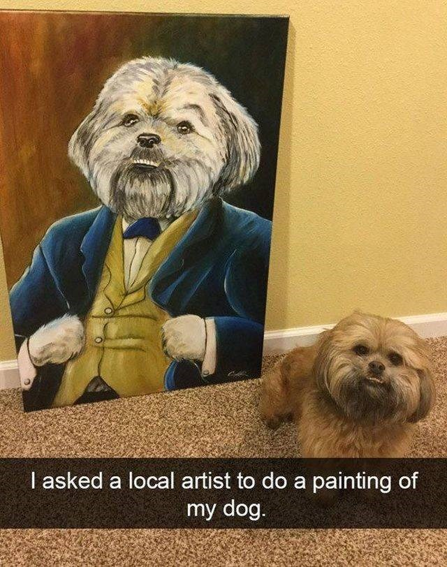 Mammal - I asked a local artist to do a painting of my dog.