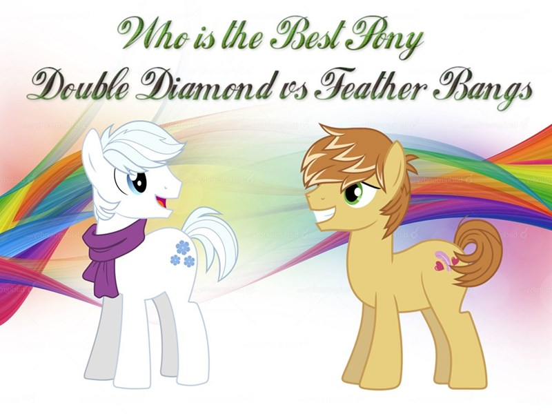feather bangs double diamond best pony - 9235572992
