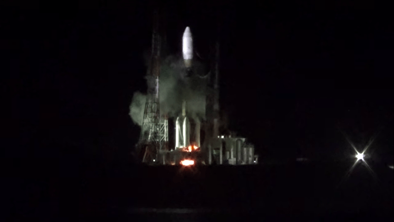 japanese rocket was grounded after fire started on launch pad
