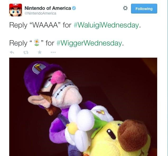 Tweet asking to reply to it with support to either Waluigi or Wigger