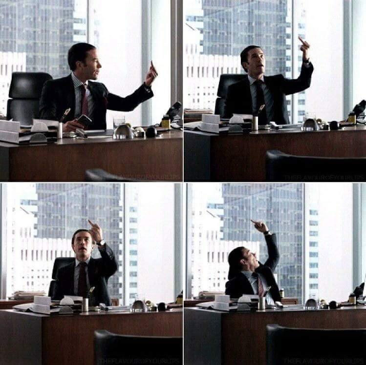 images of Ward Meachum from Iron Fist throwing his middle finger around